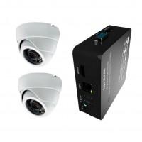 2x IP kamera 720p + NVR 8CH