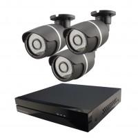 3x IP kamera 720p + NVR 4CH
