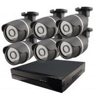 6x IP kamera 720p + NVR 8CH