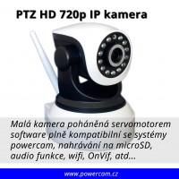PTZ mini IP kamera Wi-fi HD 720p noční vidění + slot microSD, mikrofon