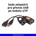 Sada adaptérů pro přenos USB signálu po LAN (RJ-45)