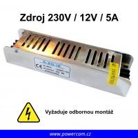 Napájecí zdroj 230V / 12V / 5A