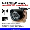 IP kamera Full HD 1080p  Wi-fi, microSD slot